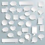 Grandes ombres de bulles de communication de papier d'ensemble Image libre de droits
