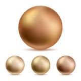 Grandes pérolas douradas da água salgada ilustração royalty free