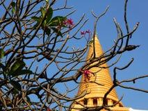 Grandes pagoda et fleur Photo libre de droits