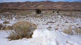 Grandes parque nacional de dunas de areia e conserva, Colorado Imagem de Stock
