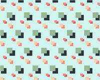 Grandes petites places oranges vertes sur le fond clair illustration stock