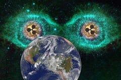 Grandes pièces de monnaie de yeux d'ondulation illustration stock