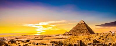 Grandes pirâmides de Giza foto de stock