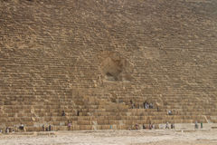Grandes pirâmides de Gizah no Cairo, Egito Imagem de Stock Royalty Free