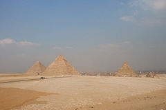 Grandes pirâmides de Gizah no Cairo, Egito Foto de Stock Royalty Free