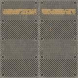grandes plaques en métal rouillées Image stock
