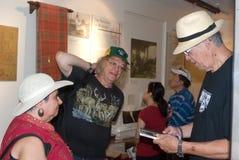 3 grandes poetas canadenses junto no dia de Canadá Foto de Stock Royalty Free