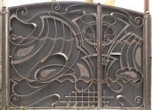 Grandes portes fermées en métal Photographie stock