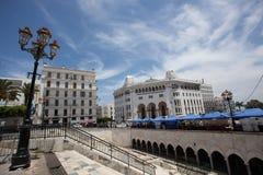 Grandes posts del La en el centro de Argel Imágenes de archivo libres de regalías
