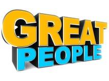 Grandes povos Imagem de Stock