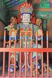 Grandes reis celestiais Estátua do budista quatro fotografia de stock