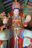 Grandes reis celestiais Estátua do budista quatro imagem de stock