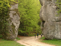 Grandes roches en Pologne Photos libres de droits