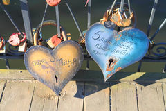 Grandes serrures de l'amour Photos stock