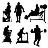 Grandes silhouettes d'exercice d'homme illustration de vecteur