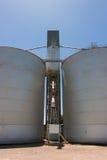 Grandes silos de grão Fotografia de Stock Royalty Free