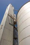Grandes silos de grão Foto de Stock Royalty Free