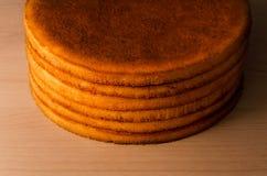 Grandes tartes sablées rondes Images libres de droits