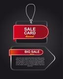 Grandes étiquettes de vente Photo stock