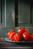 Grandes tomates rouges RAF Image stock