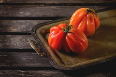 Grandes tomates rouges RAF Photo stock
