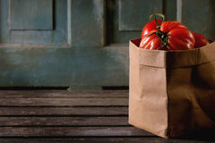 Grandes tomates rouges RAF Photographie stock