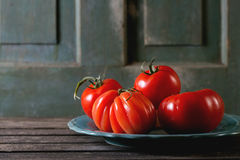 Grandes tomates rouges RAF Images stock