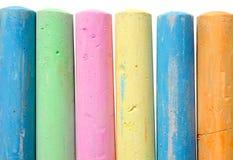 Grandes varas coloridas do giz. Imagem de Stock Royalty Free