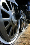Grandes vieilles roues locomotives Photos stock