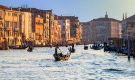 Grandest Wszystkie kanały - kanał grande w Wenecja, Włochy Obraz Royalty Free