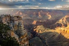 Grandet Canyon Mather Point Fotografering för Bildbyråer
