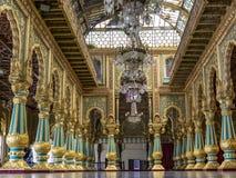 Durbar Hall inside the Mysore Palace royalty free stock photos