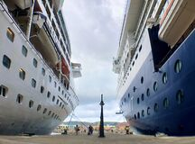 Free Grandeur Of The Seas And Celebrity Summit Cruise Liners Royalty Free Stock Photo - 173894015