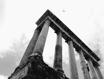 Grandeur of the past. Ruins of a Roman temple Stock Photos