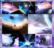 Grandeur of the universe stock images