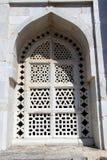 Grandeur of Window Frame, Mandu. Grand design of window frame at Tomb of Hoshang in  Mandu, Madhya Pradesh, India, Asia Stock Images