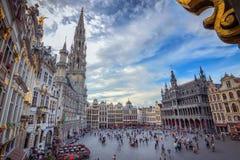 Grandeur. The wonderful Grand Place of Brussels, Belgium Royalty Free Stock Photo