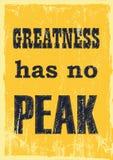 A grandeza de inspiração das citações da motivação não tem nenhum cartaz máximo do vetor ilustração royalty free