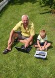 grandfather внук Стоковое Изображение RF