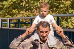 grandfather внук Стоковые Изображения RF