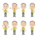 Grandfather. In different expressions Royalty Free Stock Photos