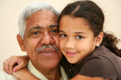 Grandfather stock photography