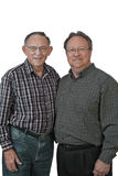 Grandfather & adult son Stock Photo