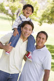 Grandfather with adult son and grandchild Royalty Free Stock Photos