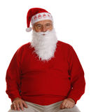 Grandfather as a Santa Claus Royalty Free Stock Image