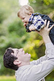Grandfather and baby boy Stock Images