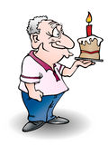 Grandfather birthday Royalty Free Stock Photo