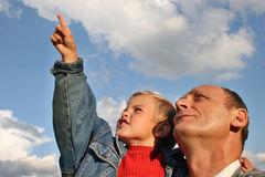 Grandfather with boy royalty free stock image