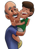 Grandfather and boy. Grandfather and a little pretty young boy Royalty Free Stock Photo
