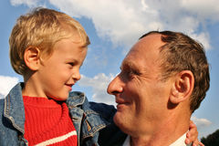 Grandfather with boy 2 Stock Photography